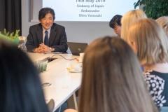 Kartu su Nasdaq viceprezidente p. A. Saladžiene ir Japonijos ambasadoriumi Lietuvoje Shiro Yamasaki